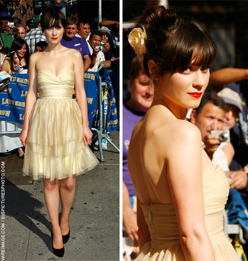ASOS Today: More From Zooey Deschanel - As Requested By You :  knee length dresses empire waist sweetheart neckline